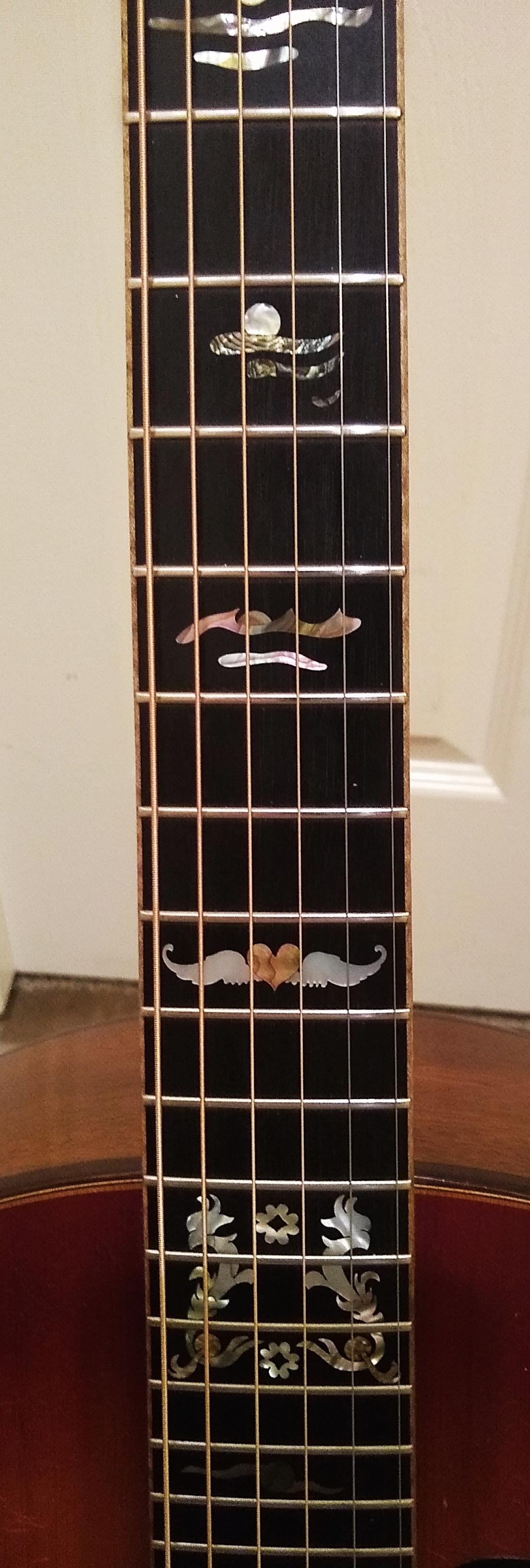 Novotny custom concert fretboard inlay